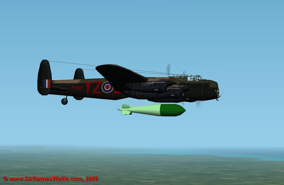 The B.1 Special Lancaster had no bomb doors to carry Grand Slam; PD112 dropped the first one in action