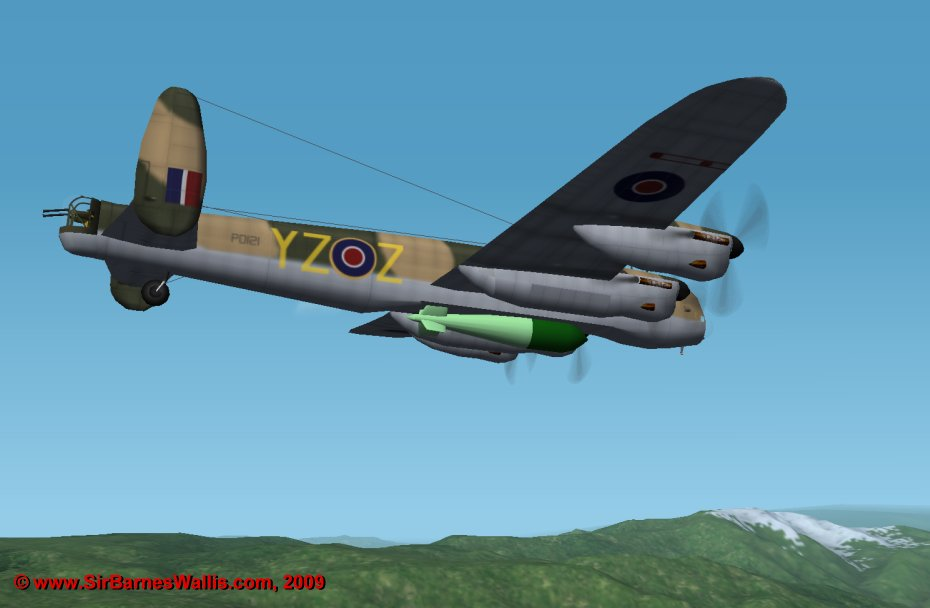 By the end of the war, the B.1 Special Lancaster in 'day' camouflage was the usual aircraft for dropping Tallboys